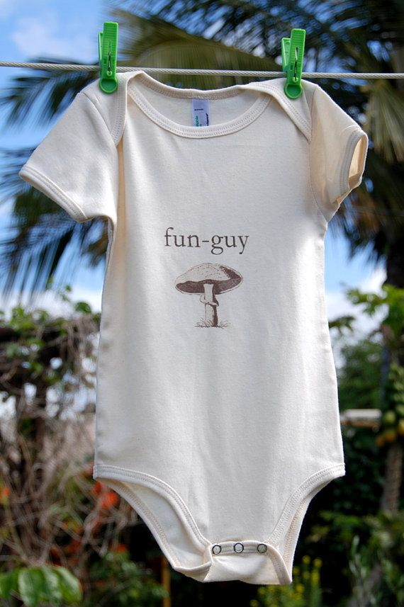 "organic baby clothes: Fun organic  cotton jumpsuit onesie, eco-friendly and sustainable soft organic cotton bodysuit - ""fun-guy"" on Etsy, Sold"