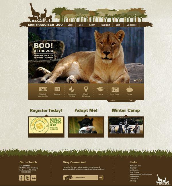 Zoo theme webdevelopment