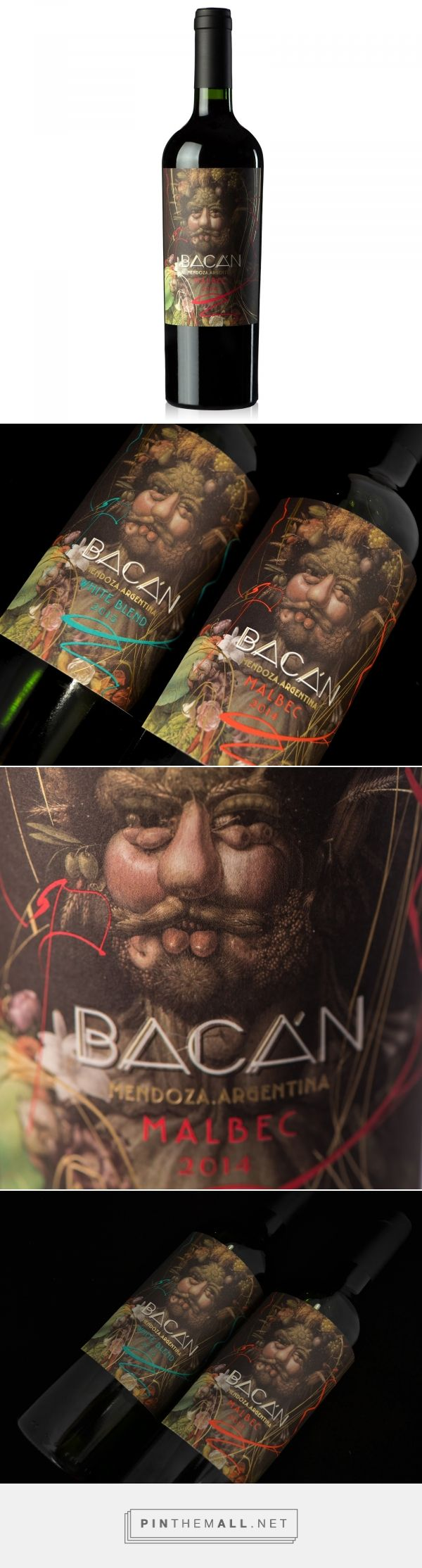 Bacán wine packaging design by Dizen - http://www.packagingoftheworld.com/2017/10/bacan.html