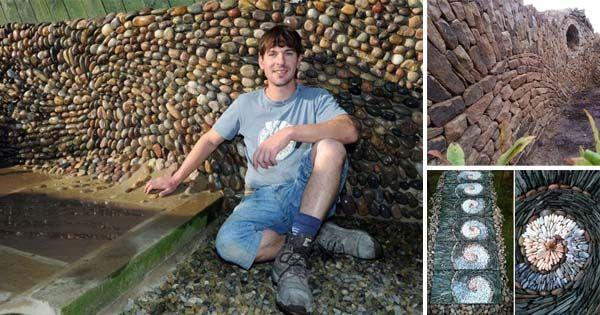 Johnny Clasperz Veľkej Británie sa rozhodol vniesť do svojho pôvodného povolania – murár – trochu umenia. Mení tehly a kamene na mozaikové umenie
