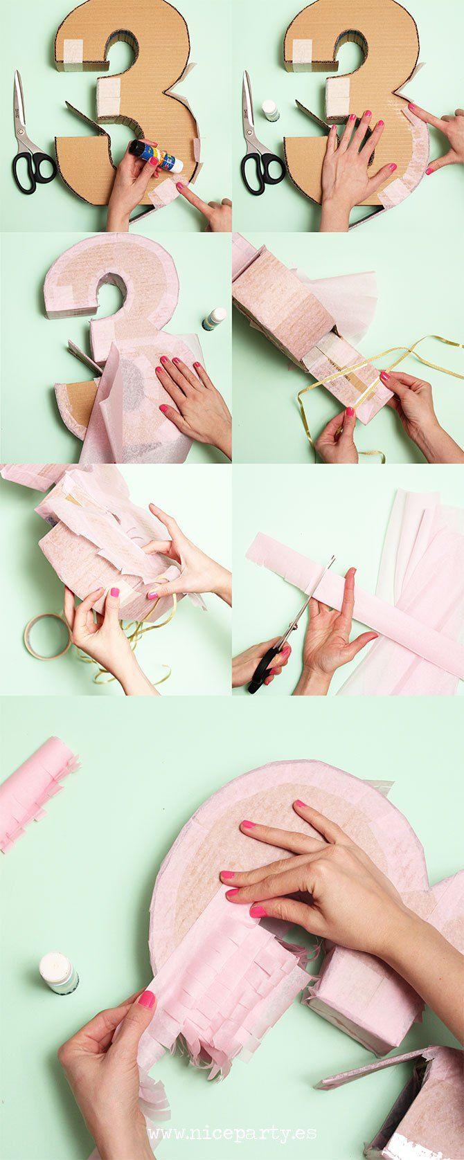 How to make a piñata step by step