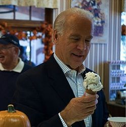 Joe Biden looking at some goddamn ice cream. - Joe Biden Looking At Stuff