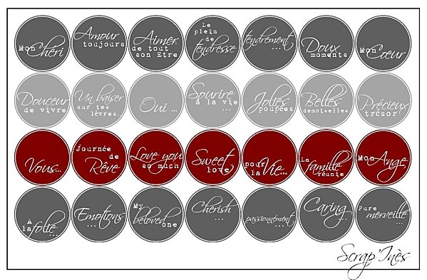 Free printable scrapbooking wedding love labels all rights reserved engli - Idee scrapbooking amour ...