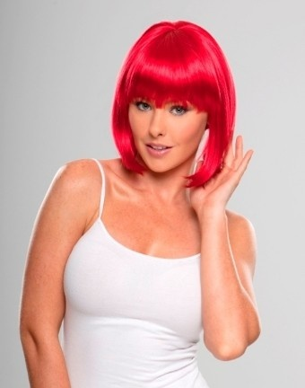 miss red bright red bob wig - Red Wigs For Halloween