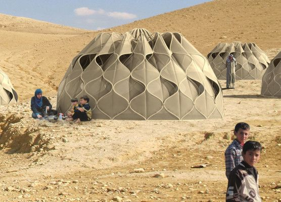 Structural woven tents by designer Abeer Seikaly