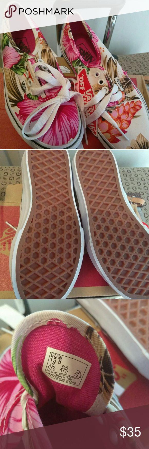 New vans for kids Floral 13.5 kids vans Shoes Sneakers