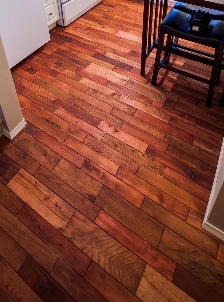 Reclaimed wood pallet flooring