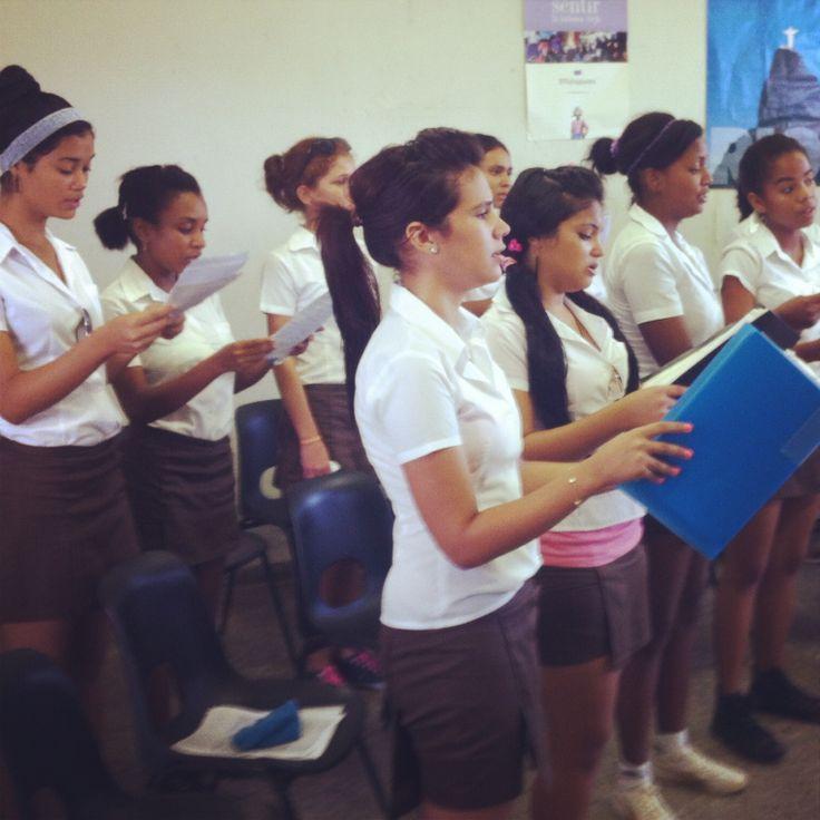 National music school choir. Havana cuba
