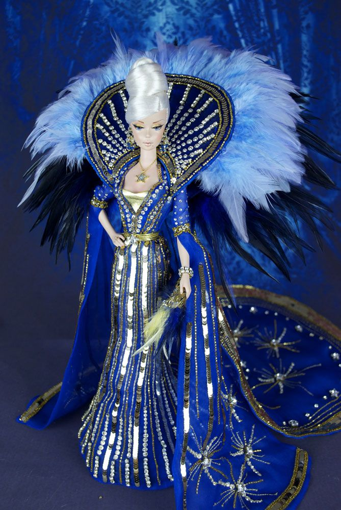 """Magic Wanda for 2015 Barbie National Convention Charity   When you think about a very first diva in the Italian theatre scenery, you think about the great Wanda Osiris. She was the real inspiration of this incredible and luxurious doll we created for the Live Charity Auction at the 2015 Barbie National Doll collector Convention held at the Hyatt Regency in Arlignton (VA, USA). Wanda Osiris was the real diva of the """"Rivista"""", the Italian version of Broadway musical and was so popular for her…"""