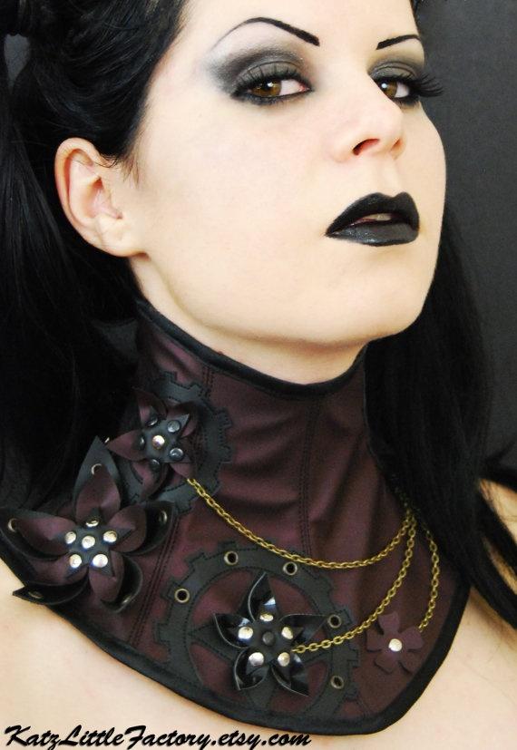 Steampunk inspired neck corset | DIY style