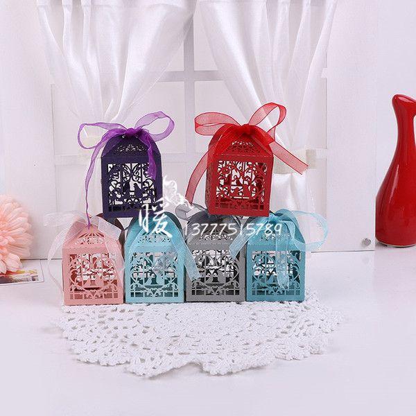 200Pcs/set Love Heart Party Wedding Candy Boxes Favor Ribbon Gift Candy Boxes Wedding Party