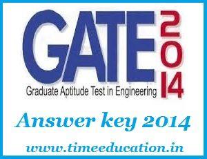 GATE Answer key 2014