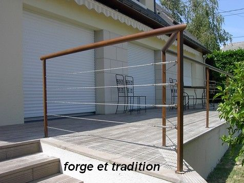 26 best Garde corps images on Pinterest Decks, Balconies and Banisters - terrasse sur pilotis metal
