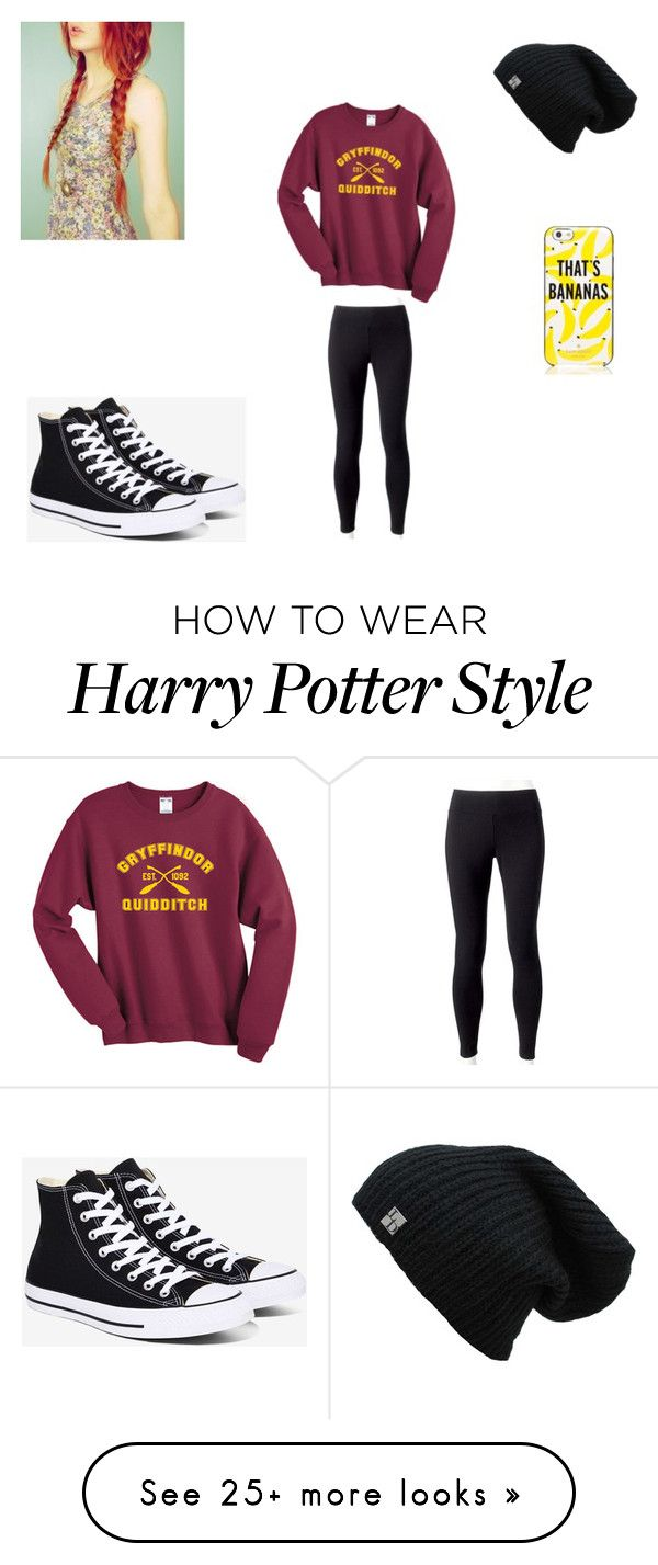 """Finn"" by lyra-slytherin on Polyvore featuring Converse, Jockey and Kate Spade"