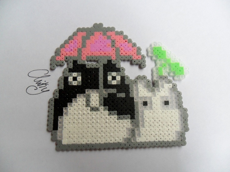 Hama beads Totoros.