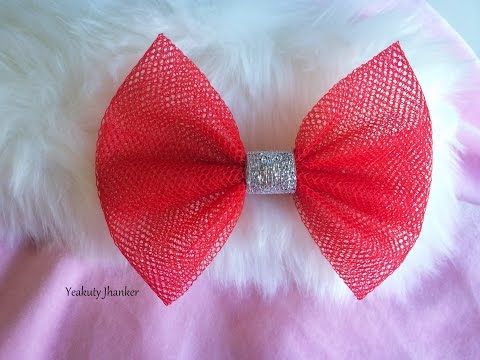How to Make a Tulle Hair Bow - TheRibbonRetreat.com - YouTube