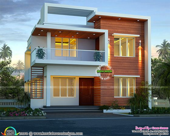 518 best house elevation indian compact images on for Modern tower house designs