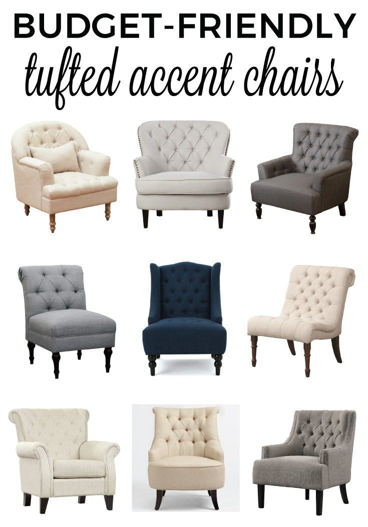 Get A List Of Affordable Budget Friendly Tufted Accent Chairs That Will Help Make Your Space Tufted Accent Chair Accent Chairs For Living Room Accent Chairs