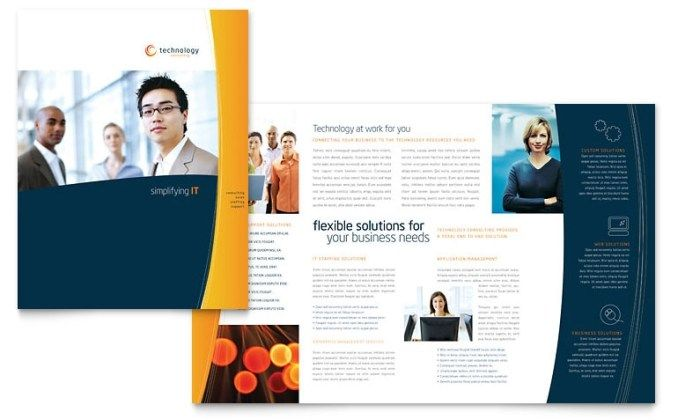 Free Brochure Template Download Word Publisher Templates Templat Brosur Desain Brosur Brosur