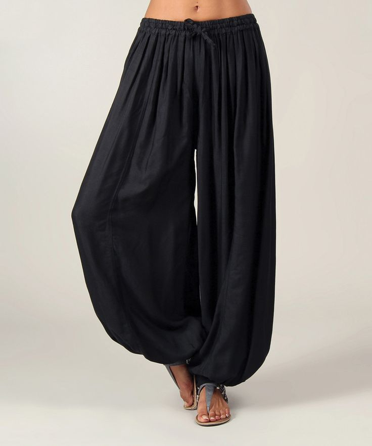 Aller Simplement Black Harem Pants | zulily