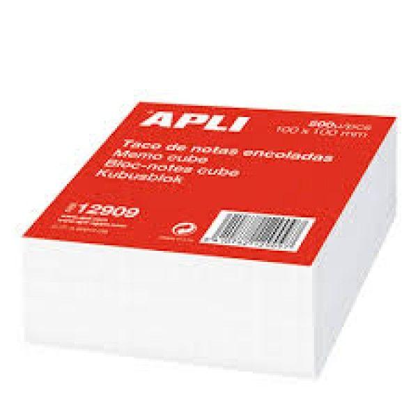 Comprar Taco 500 Notas Encoladas Papel Blanco 80x80mm Apli 12910  #oficina #tienda #notas #indices #adhesivas #colores #rollo #bloc #taco