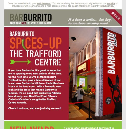 Barburrito - Campaign Monitor
