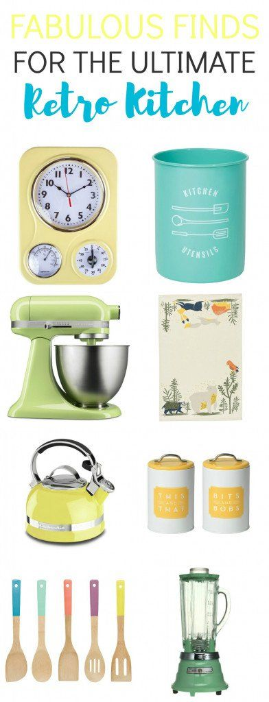 Love retro kitchen accessories? Check out these 17 fabulous finds for the ultimate retro kitchen.