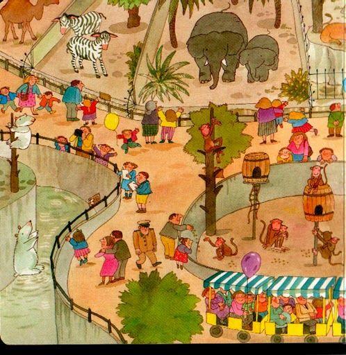 Dierentuin, praatplaat voor kleuters / zoo 1