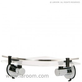 Laroom - Estante corner acrílico serie-inox con ventosas (para todas las superficies) - Laroom diseña y fabrica los productos de baño con ventosa más bonitos del mundo - www.laroom.com