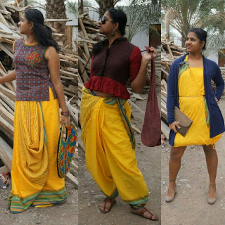 1 Saree and 3 ways to drape