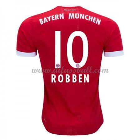 Fussballtrikots günstig Bayern München 2017-18 Arjen Robben 10 Heimtrikot Kurzarm
