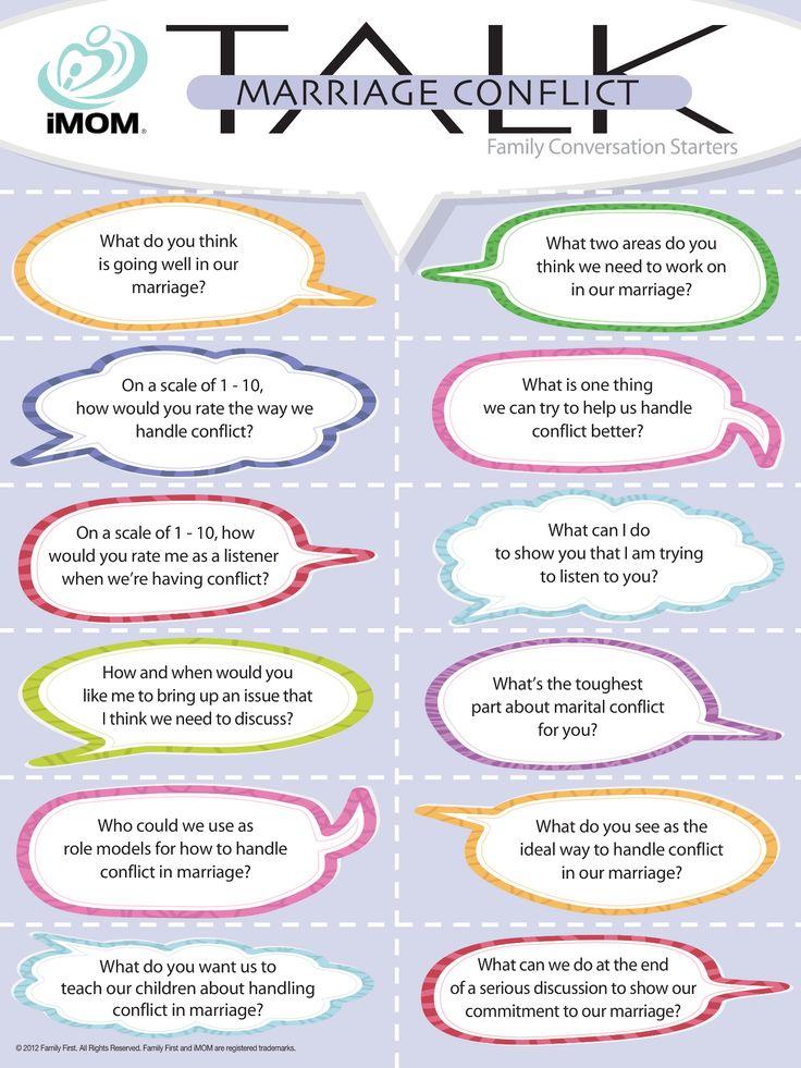 Marriage Conflict Talk, Conversation Starters