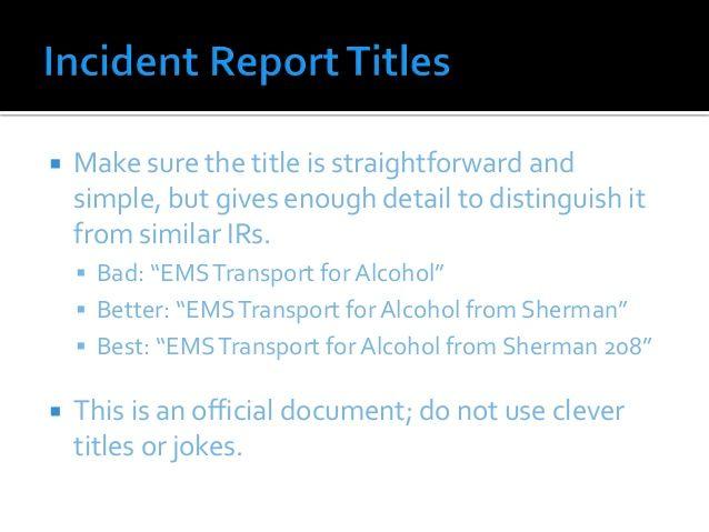 112 best Mental Health Work images on Pinterest Leadership - medical incident report sample