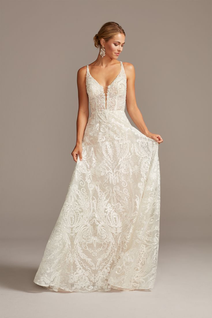 Galina Signature For David S Bridal Spring 2020 In 2020 Wedding Dresses Fitted Lace Wedding Dress Dresses,Dresses For Toddlers For Weddings