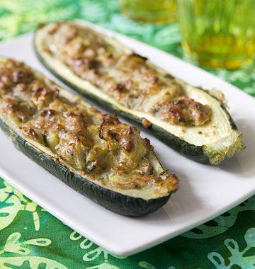 Courgettes farcies au comté et aux herbes - Ôdélices : Recettes de cuisine faciles et originales !