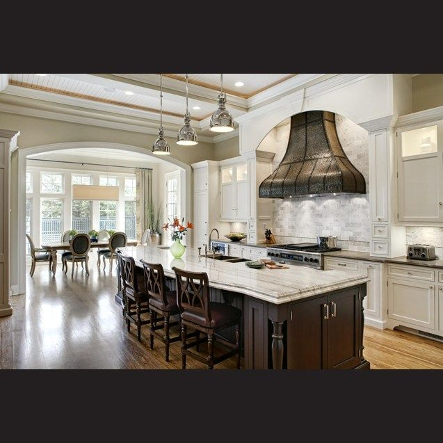 The Texture And Color Of Hand Hammered Hood Is Accentuated By Interior Valance Lighting