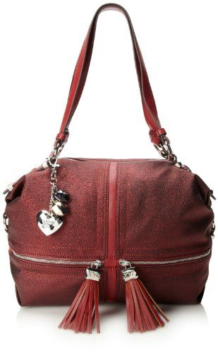 KATHY Van Zeeland Just Jems Magnetic Top Handle Bag,Dark Red,One Size *** Find out more about the great product at the image link.