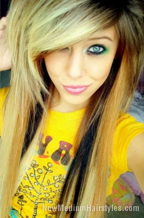 nice Emo Hairstyles & Haircuts for Girls //  #Emo #Haircuts #Hairstyles