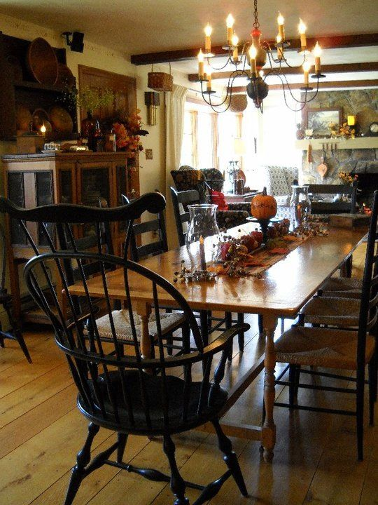 windsor chair love one day i will have this kitchen table - Primitive Kitchen Tables