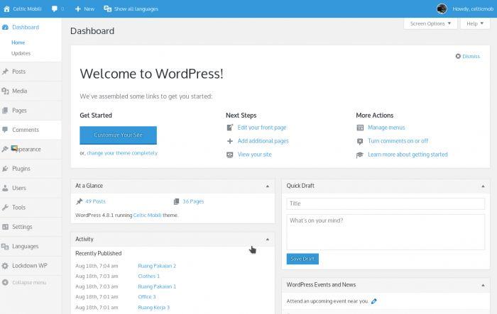 Pada artikel kali ini, saya akan membagikan tutorial mengenai cara merubah tampilan halaman admin pada WordPress tanpa menggunakan plugin.