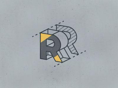 The Letter R. #design #illustration