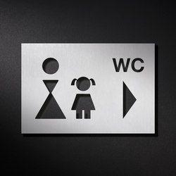 Hinweisschild WC | Room signs | PHOS Design