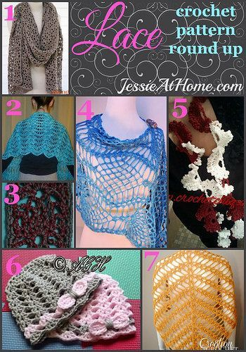 Lace Crochet Pattern Round Up from Jessie At Home