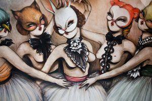 Miss Van exhibition, Wild at Heart, at Copro Gallery in Santa Monica