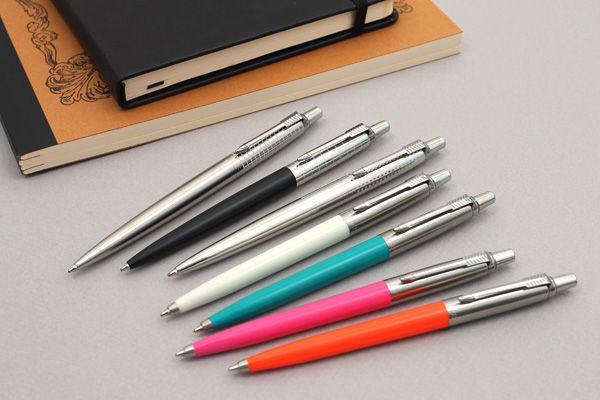 Parker Jotter Premium Ballpoint Pen - Medium Point - Shiny Stainless Steel Chiselled