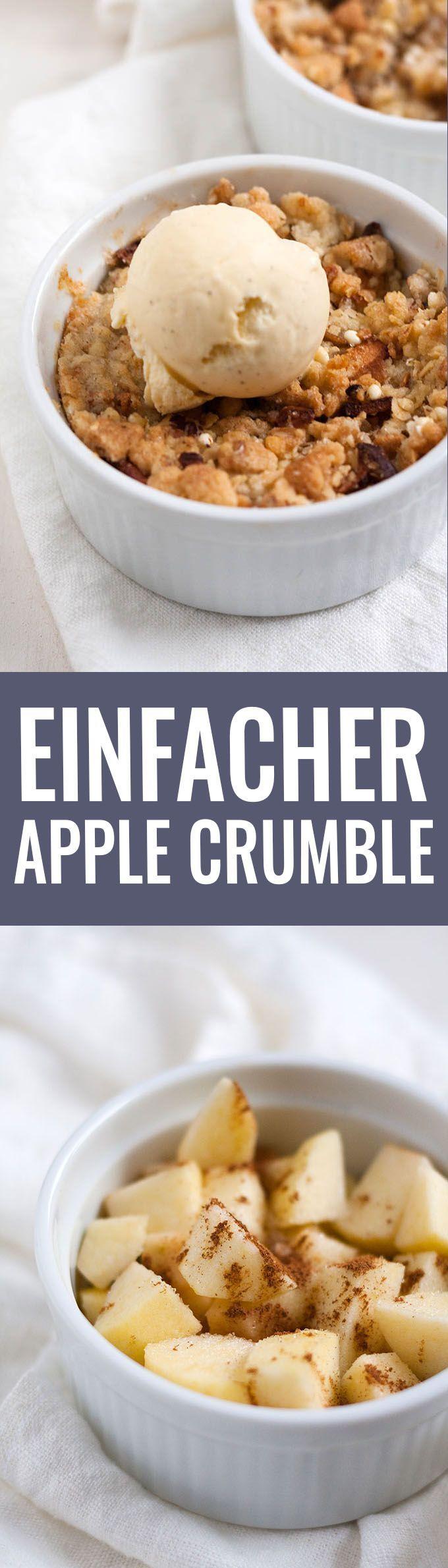 Einfacher Apple Crumble