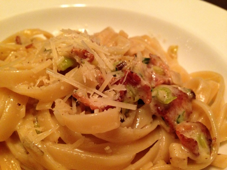 is Fettuccini with Leeks and Bacon | Not Everything I Make Is Pretty ...