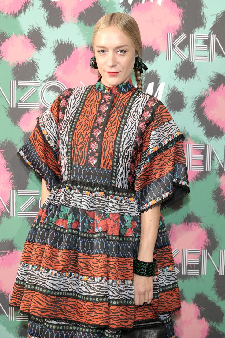 Chloe Savigny wears Kenzo×H&M Collection.