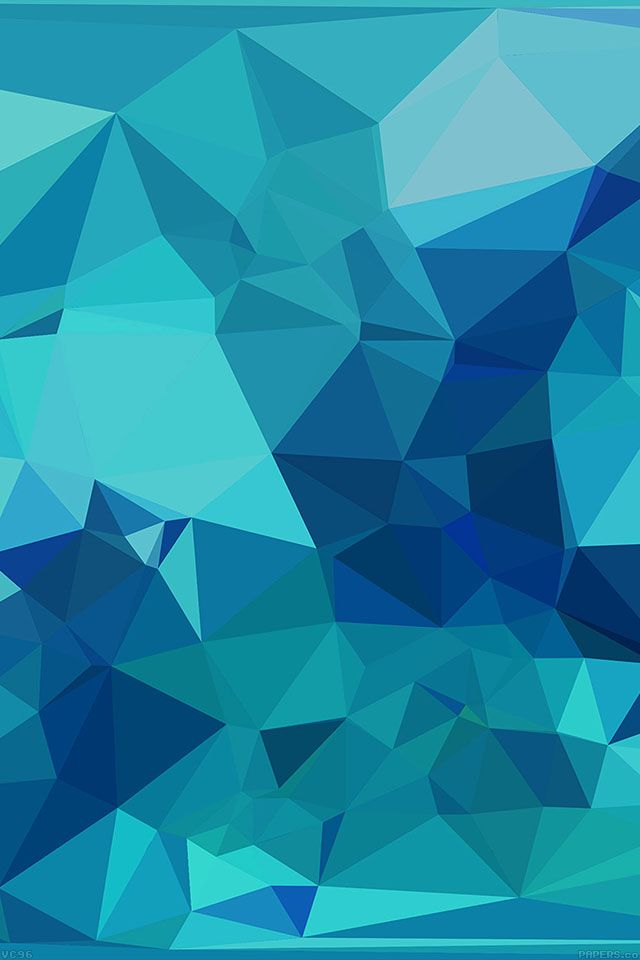 Freeios7 vc96 triangle of blue patterns parallax hd for Blue patterned wallpaper bedroom