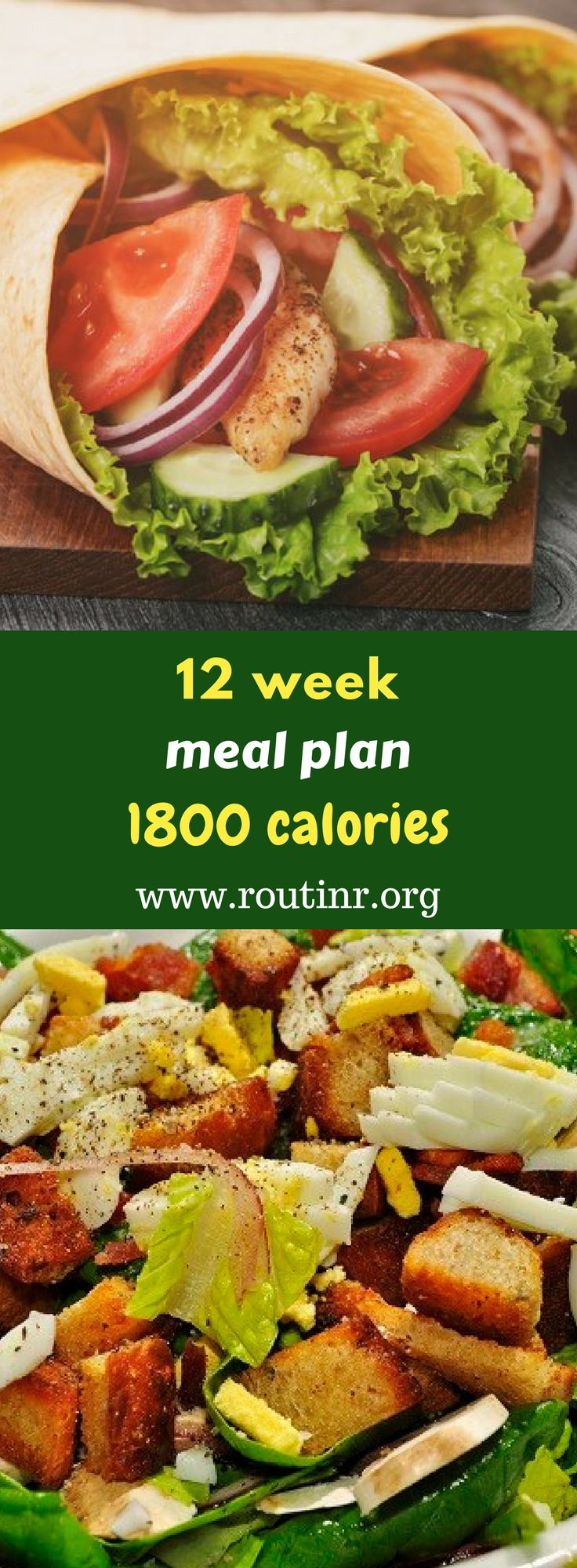 Paleo Meal Plans: 12 week meal plan 1800 calories. An 1800 calorie diet plan calls for three meals and three snacks each day to provide your body with sustained energy. Find out more at: https://routinr.org/routines/12-week-meal-plan-1800-calories